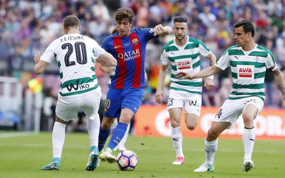 Sergi Roberto out with a groin strain