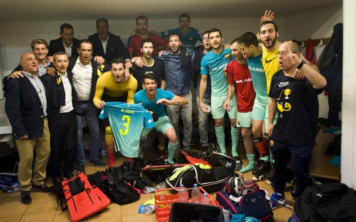 Reus Deportiu La Fira v FC Barcelona Lassa: Champions! (4-4)