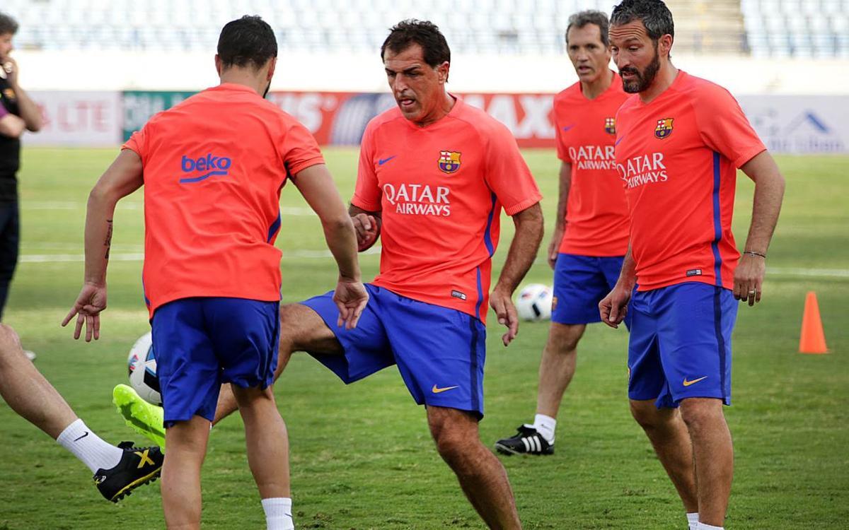 Els Barça Legends, a punt per a 'l'altre Clàssic del Líban'