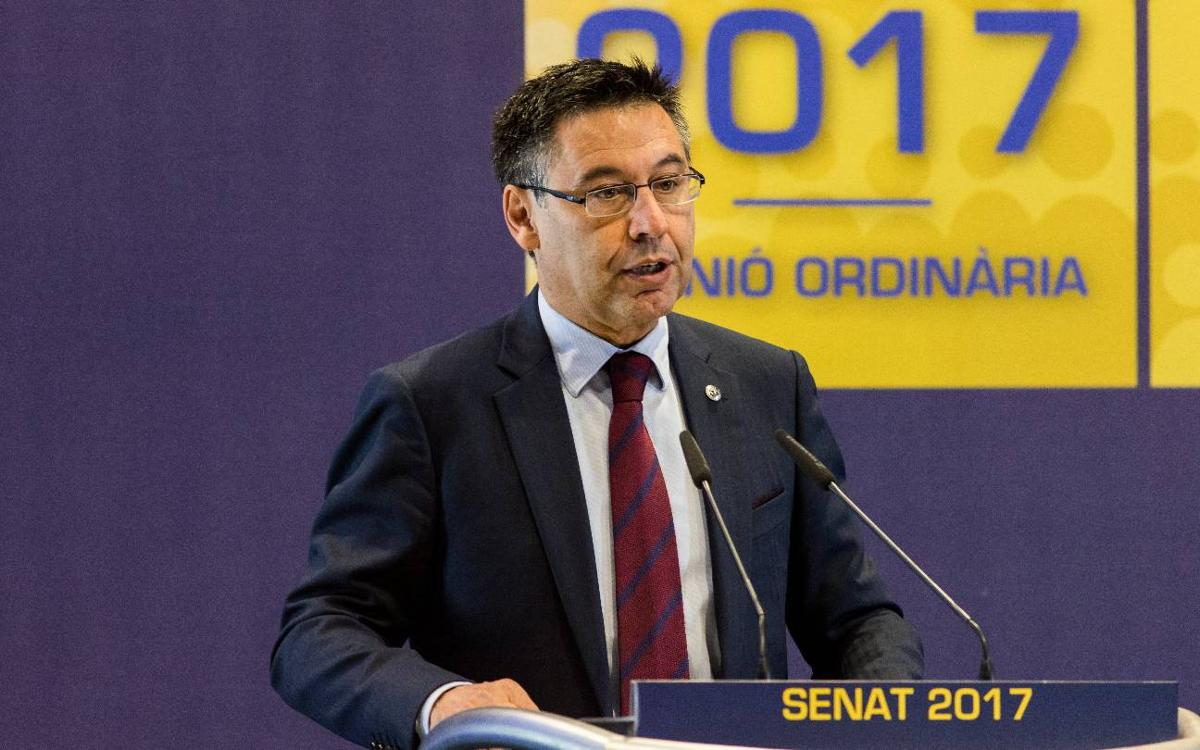 """Bartomeu aposta per """"la democràcia, la justícia i el futur"""""""