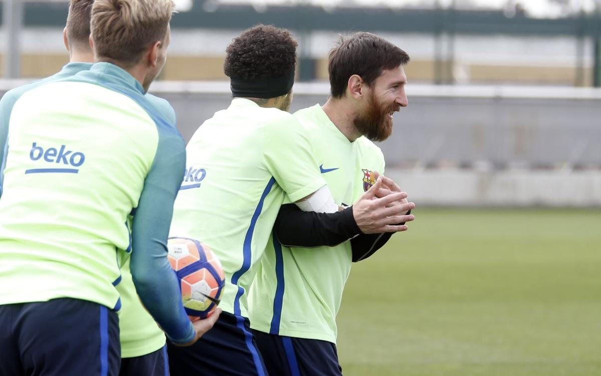 Leo Messi's latest moment of magic in training