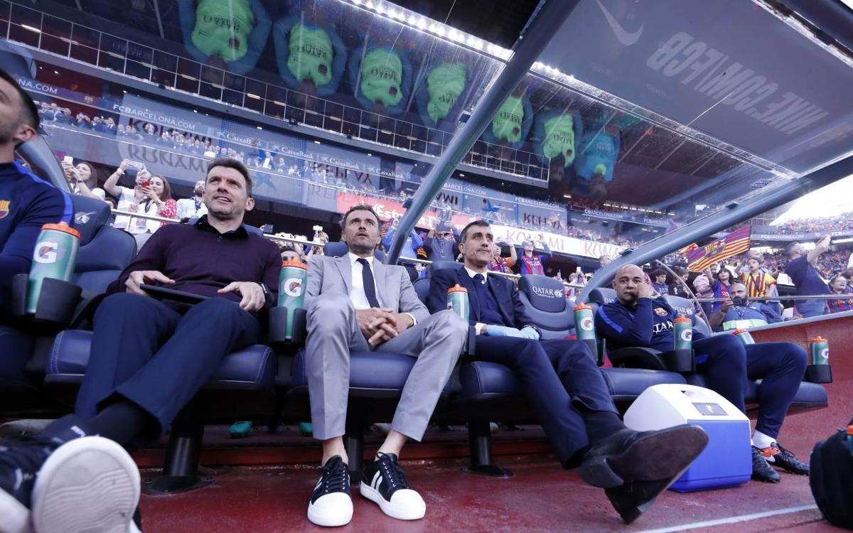Luis Enrique se despide del Camp Nou con su mejor racha de victorias como local