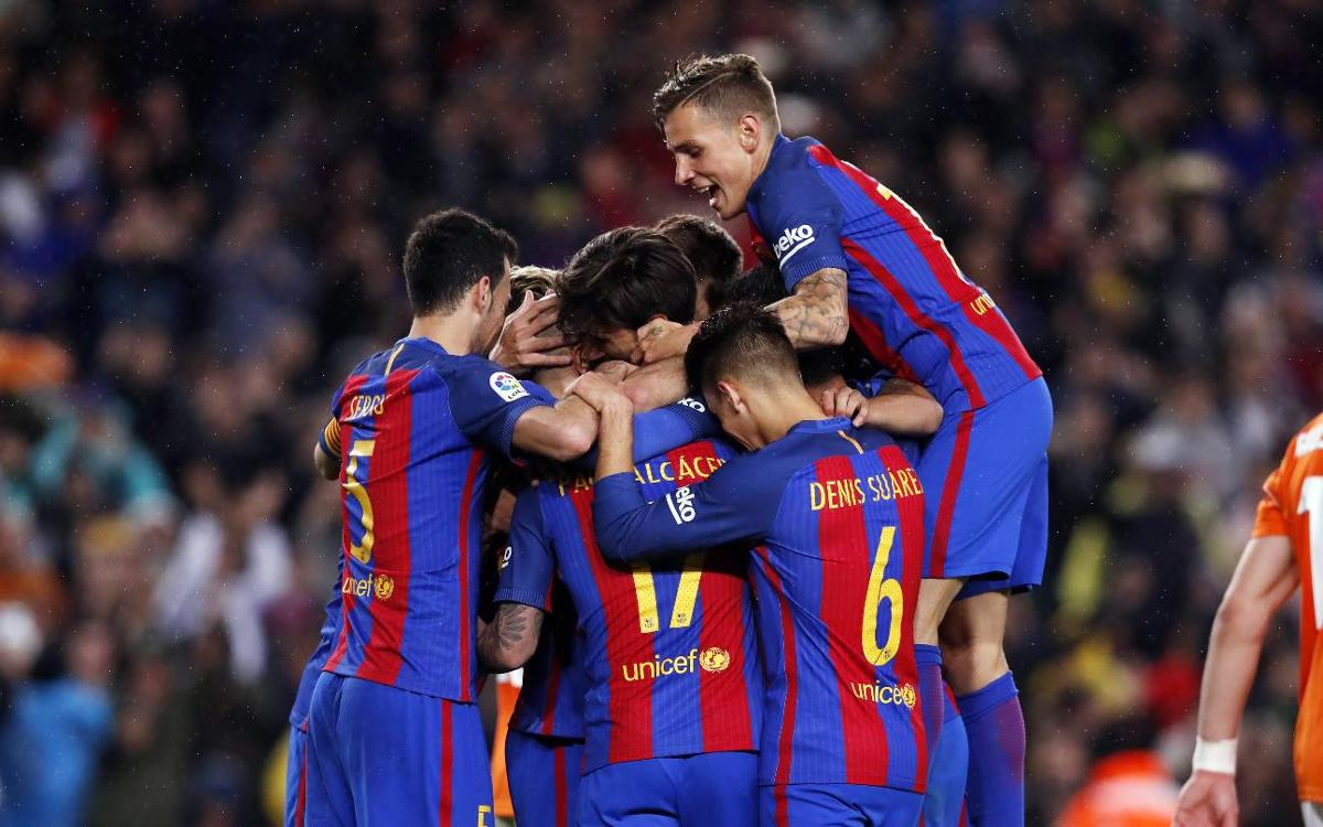 Le FC Barcelone, première équipe à inscrire 150 buts cette saison en Europe
