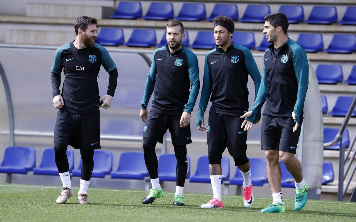 Final training session before return leg against Juventus