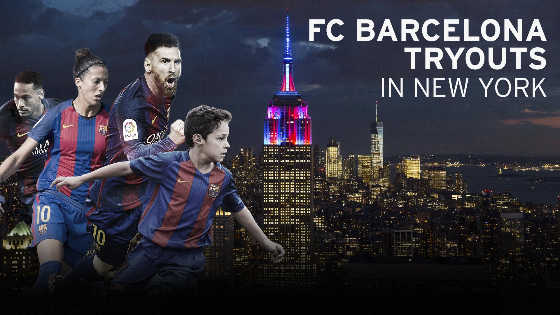 FC Barcelona hosts tryouts for its youth academy in New York