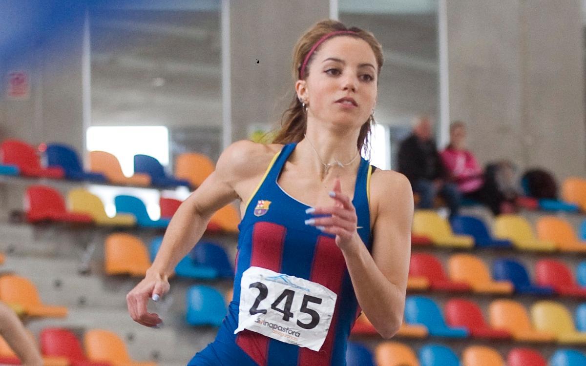 Carmen Sánchez, récord de Cataluña de 400 metros