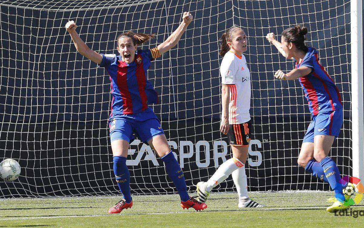 València CF – Barça Femení: Un gol d'Unzué dóna tres punts d'or (0-1)