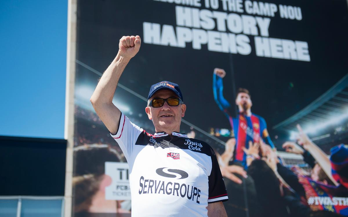Marcel, 77 ans, 1400 kilomètres pour rejoindre le Camp Nou, à vélo
