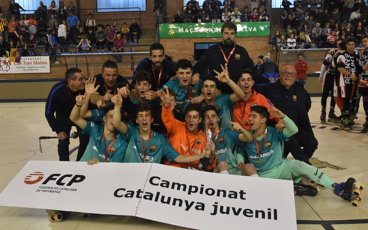 Doblete azulgrana en el Campeonato de Catalunya Juvenil y Alevín