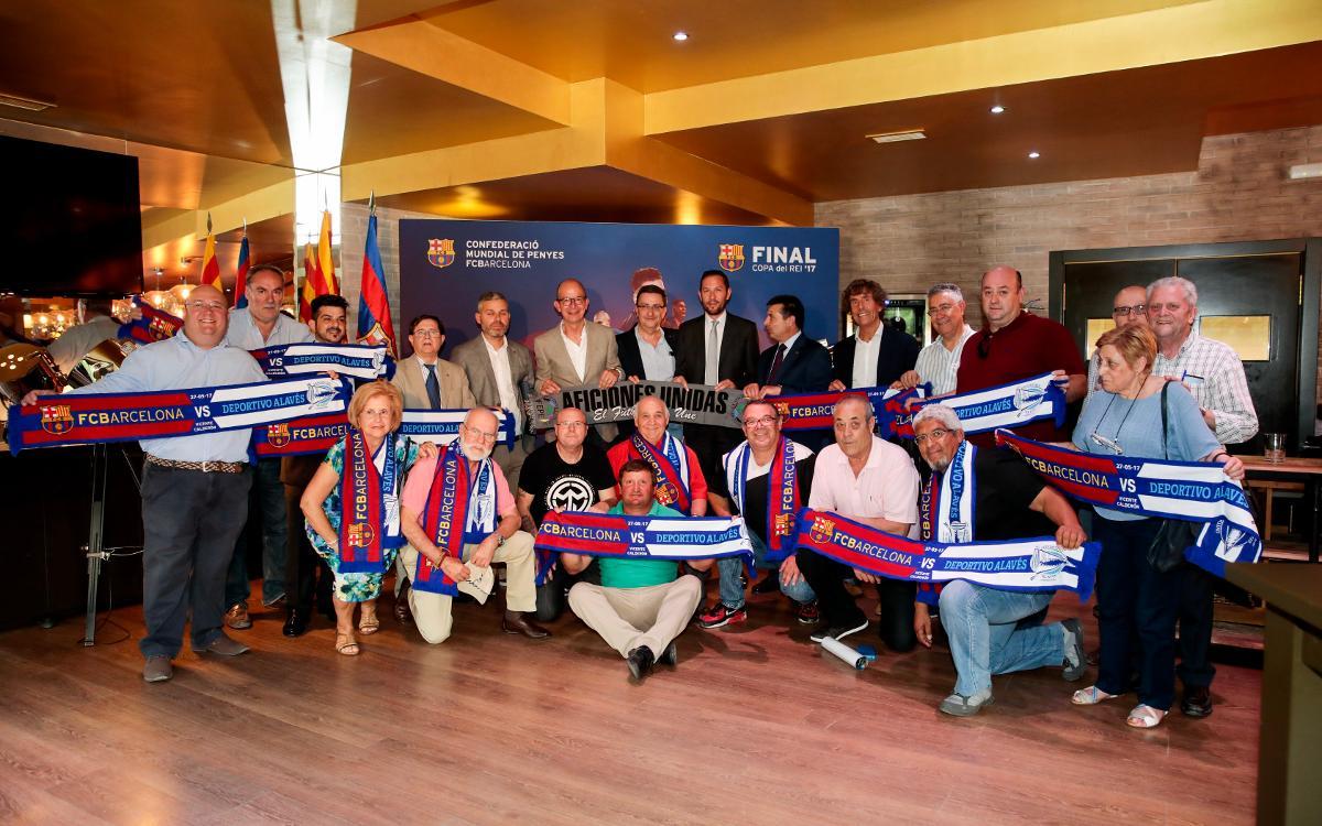 Acto de hermanamiento entre las federaciones españolas de peñas