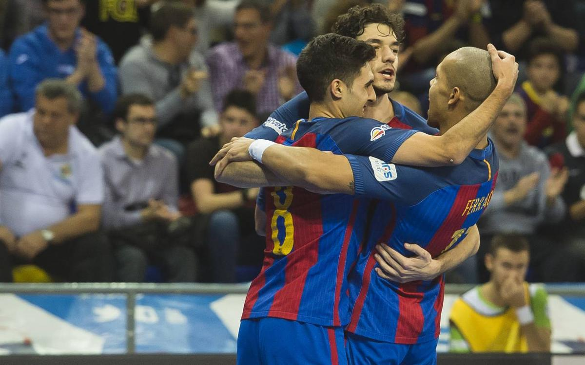 Palma Futsal - FC Barcelona Lassa: Colpegen primer (2-5)