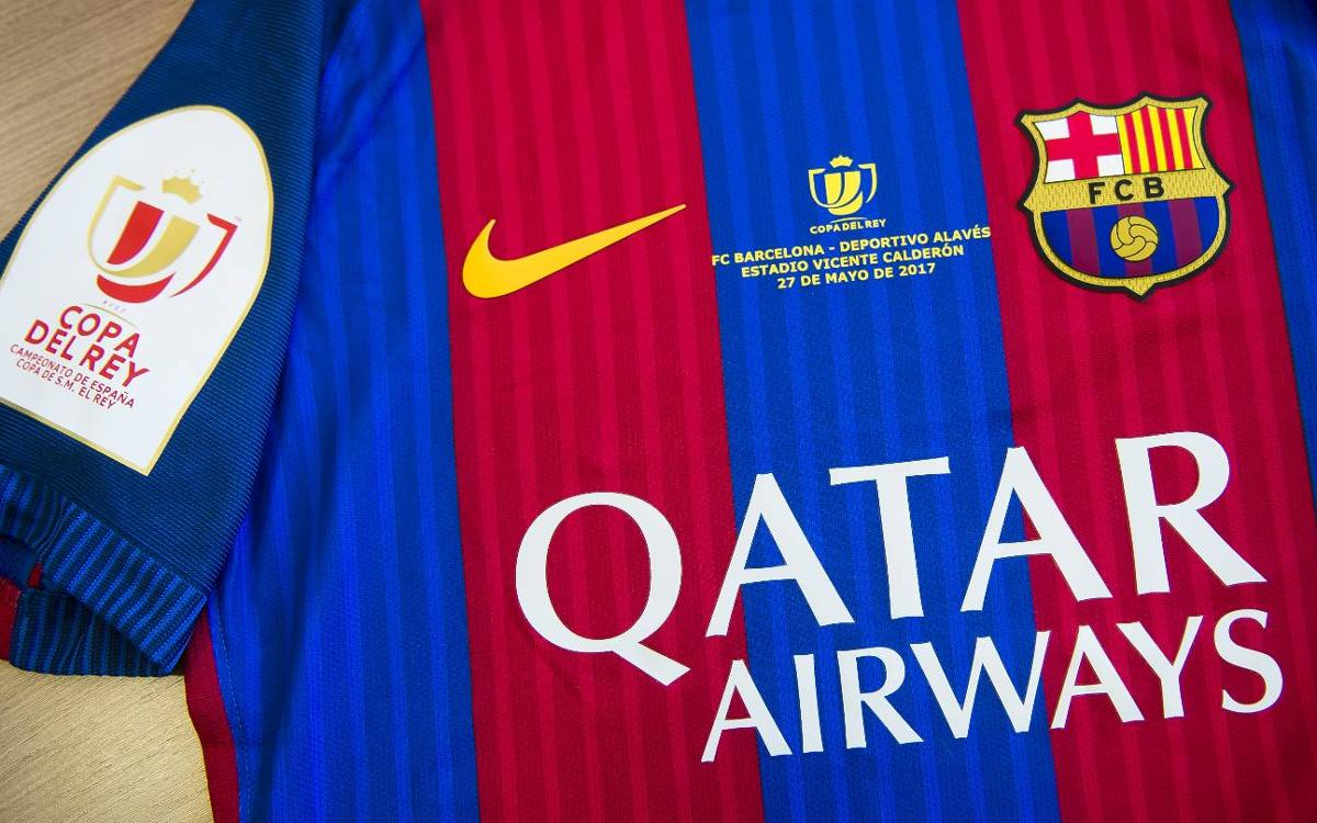 Así será la camiseta del Barça en la final de la Copa del Rey