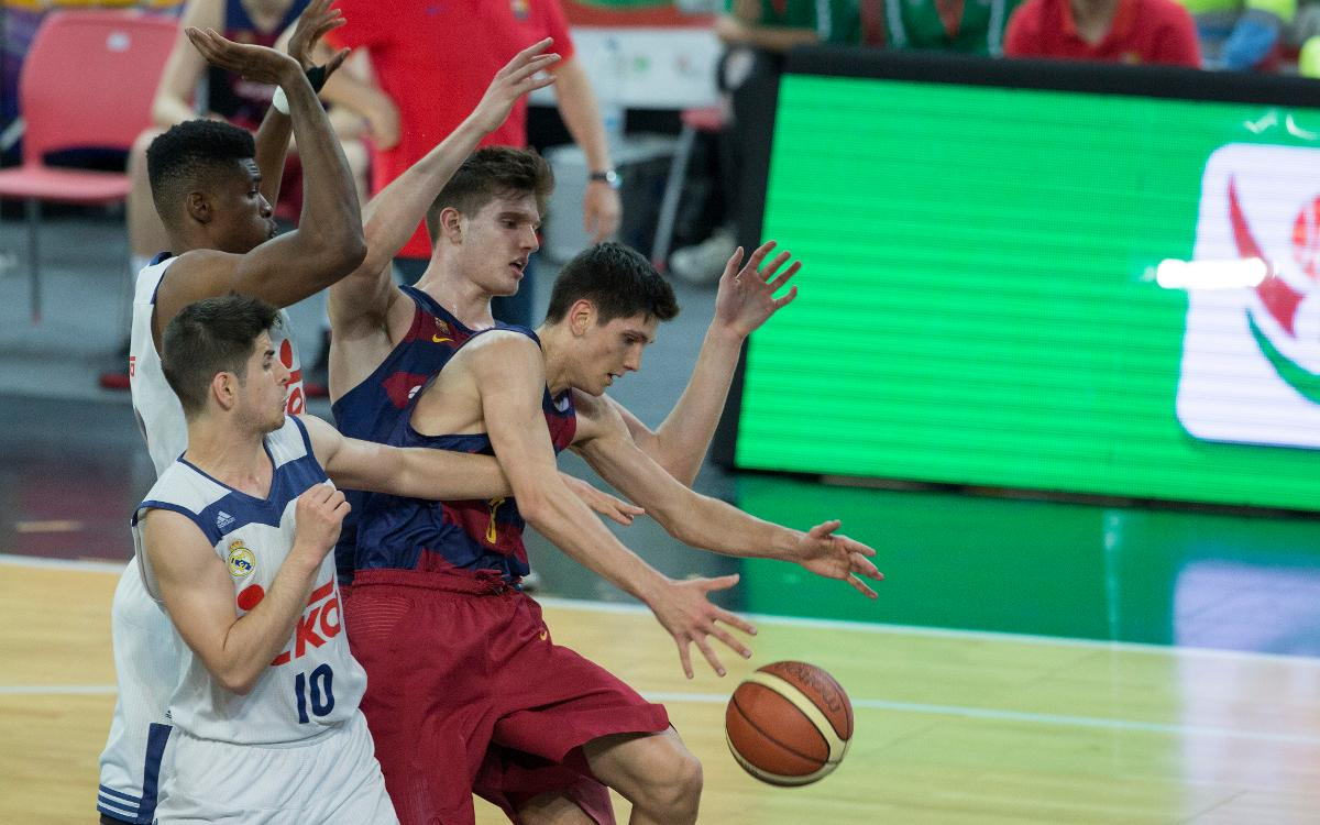 El junior cae en las semifinales del campeonato de España contra el Madrid (53-55)