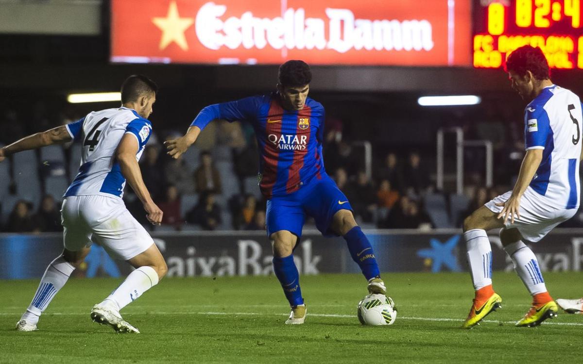 Espanyol B – Barça B: Demostración de orgullo para llevarse el derbi de filiales (0-2)