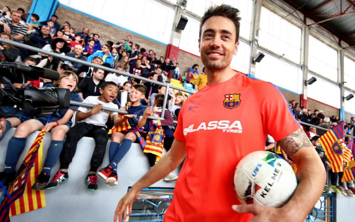 Entrenament de portes obertes del FC Barcelona Lassa a Balaguer