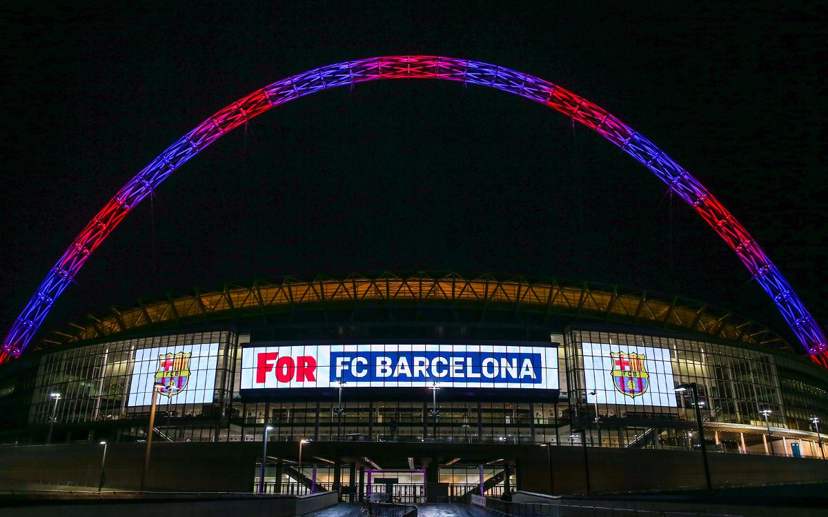 Wembley lights up in blaugrana