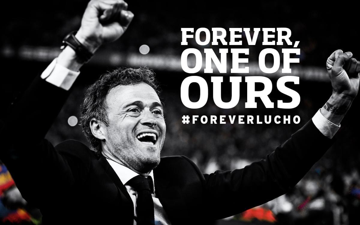 Tribute to Luis Enrique at Camp Nou