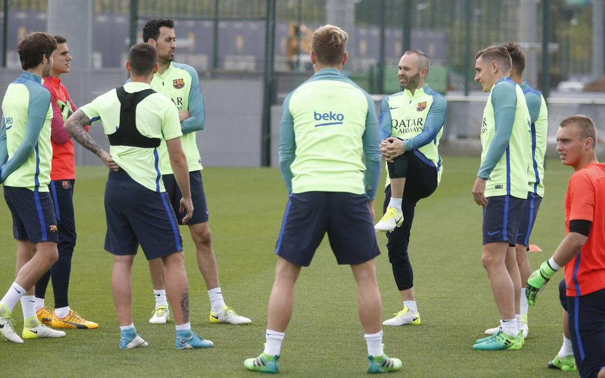Final training session before hosting Villarreal
