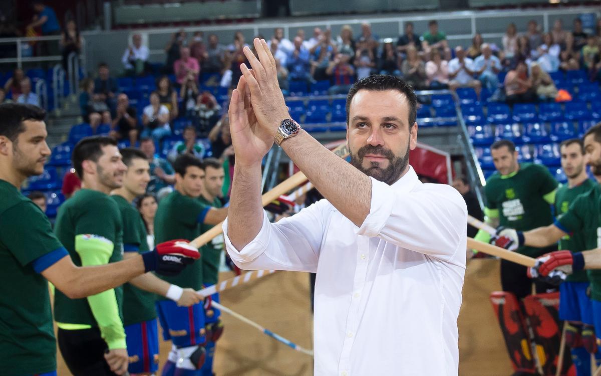 Ricard Muñoz se despide del Palau Blaugrana