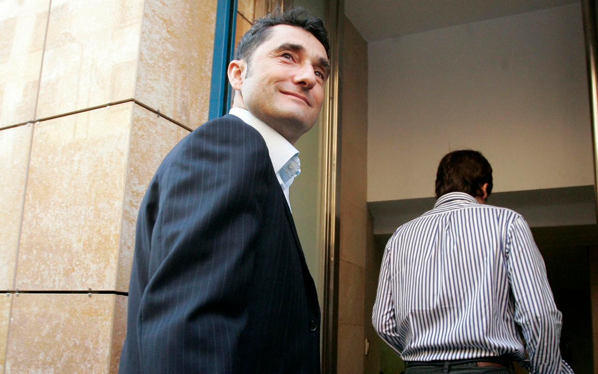 Ernesto Valverde llega este miércoles a Barcelona
