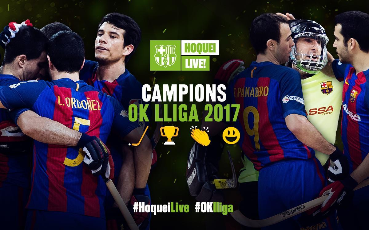 El Barça Lassa, campió de l'OK Lliga per 28a vegada!