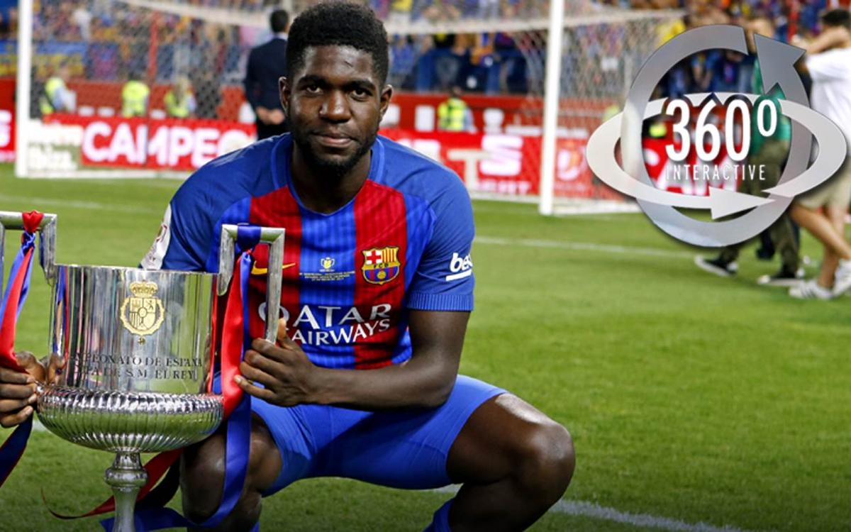 Samuel Umtiti's 360-degree video of the team celebrating Barça's Copa del Rey victory