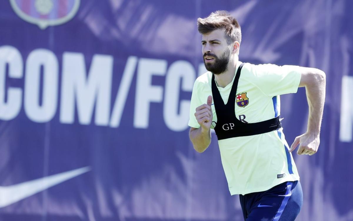 Piqué, misses out for the final league game against Eibar