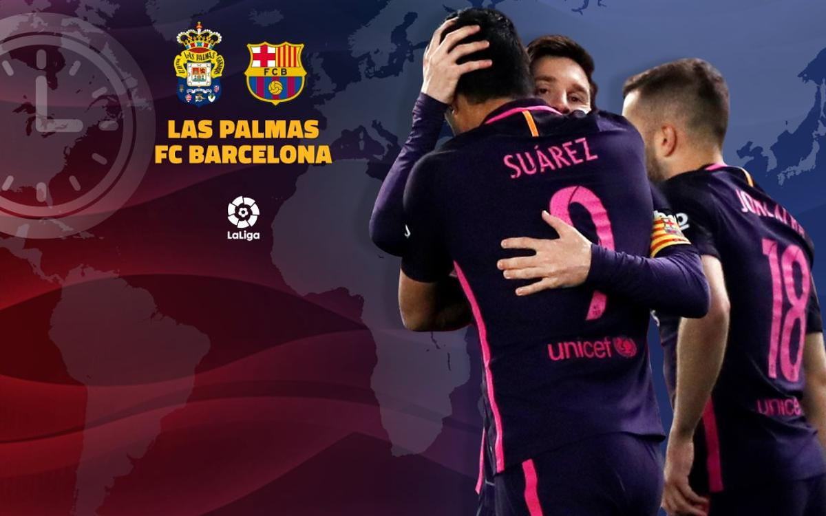 When and where to watch Las Palmas v FC Barcelona