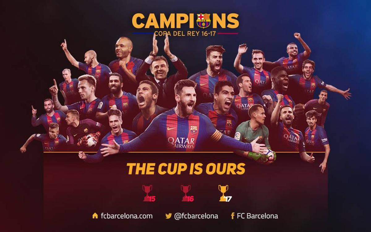Barça win the Copa del Rey for the 29th time at the Vicente