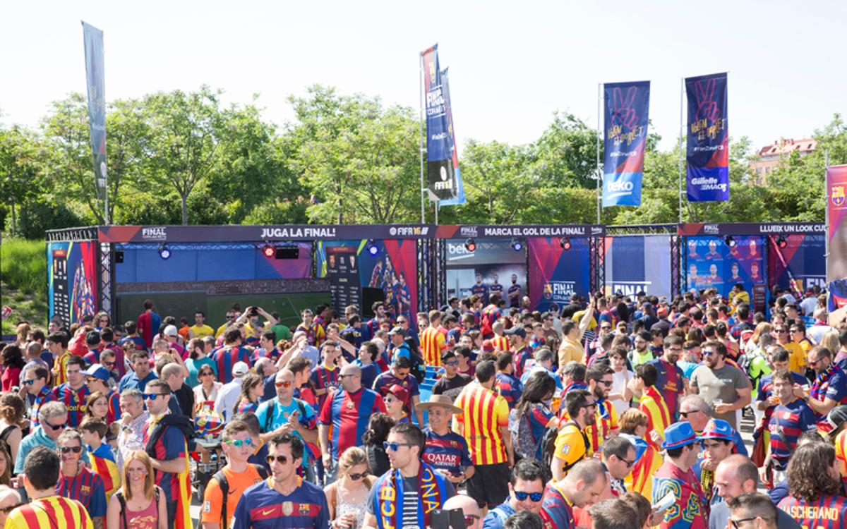 Barça's 'Fan Zone' for the Copa del Rey final