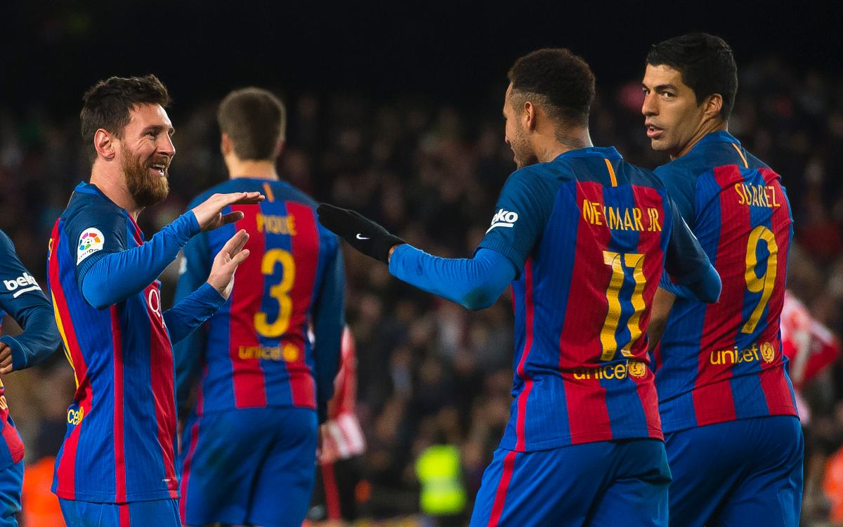 The 10 best goals scored by Messi, Suárez and Neymar in the Copa del Rey