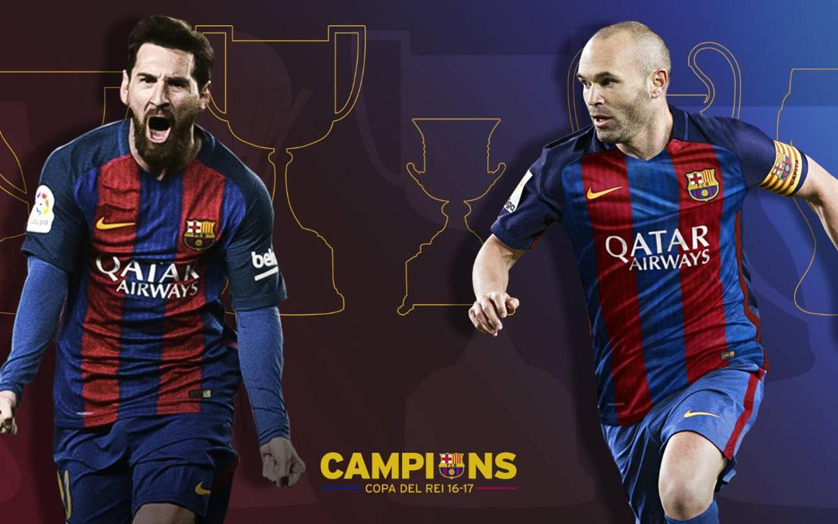 Andrés Iniesta et Lionel Messi remportent leur 30ème titre avec le FC Barcelone