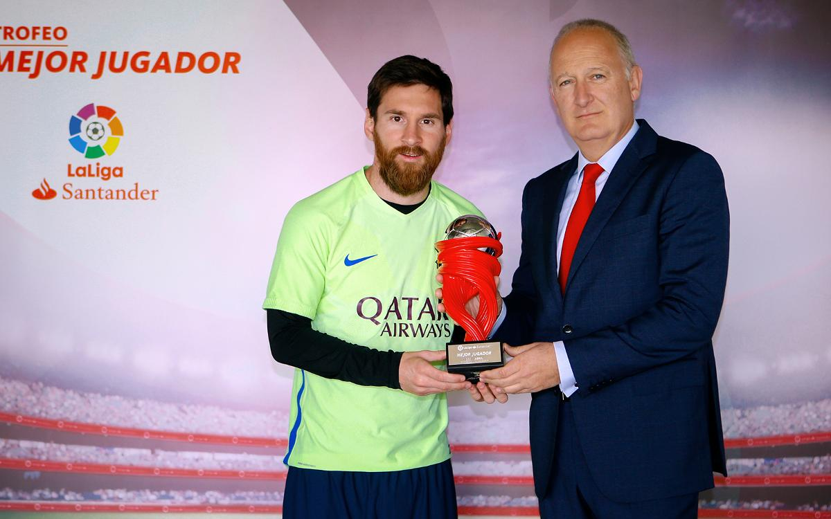 Leo Messi player of the month for April in La Liga