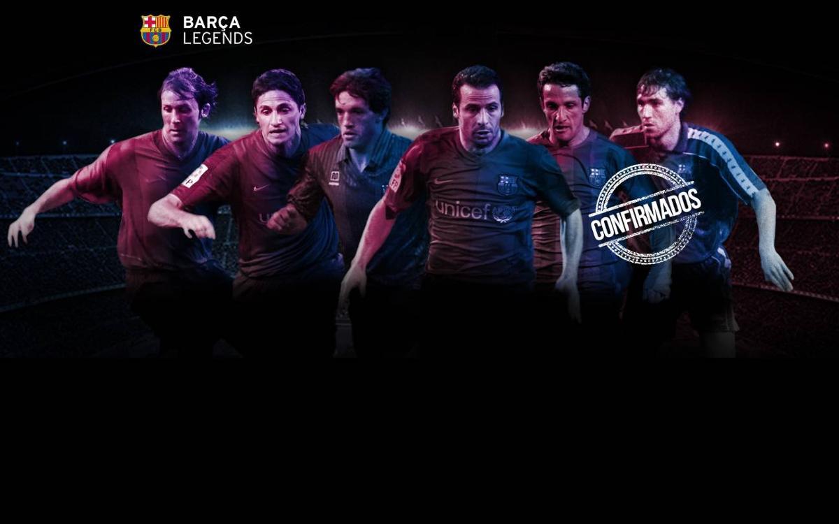 Primeros jugadores confirmados para el debut de los Barça Legends en el Camp Nou