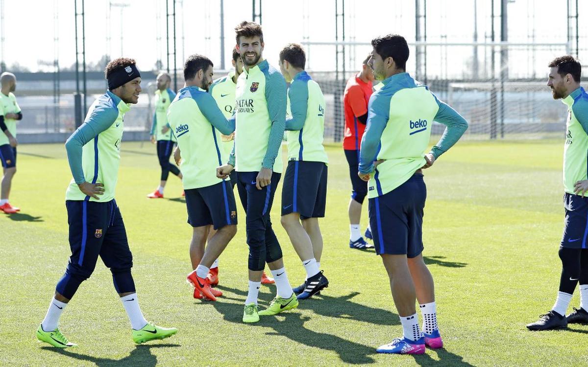 Continúa la preparación para la visita del Valencia