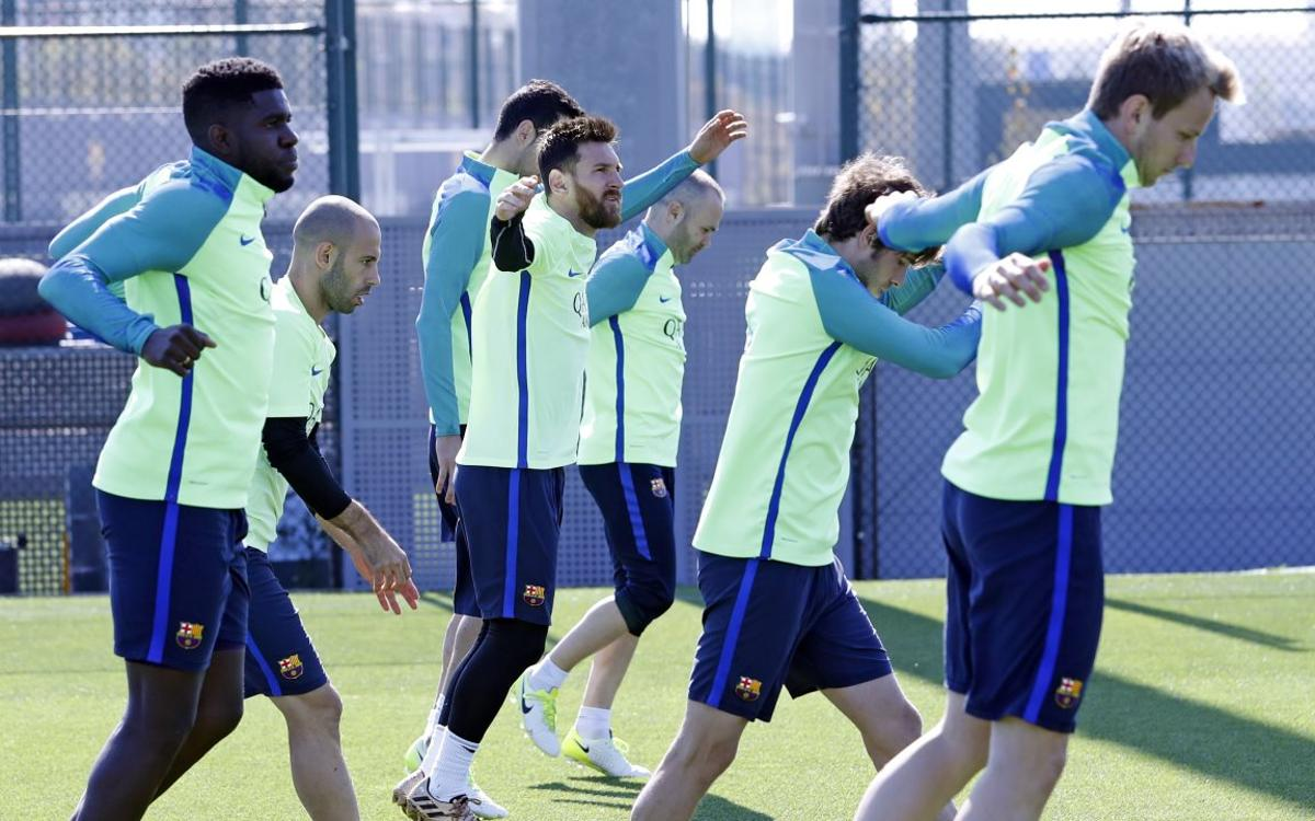 TRAINING: Next up, Málaga on Saturday
