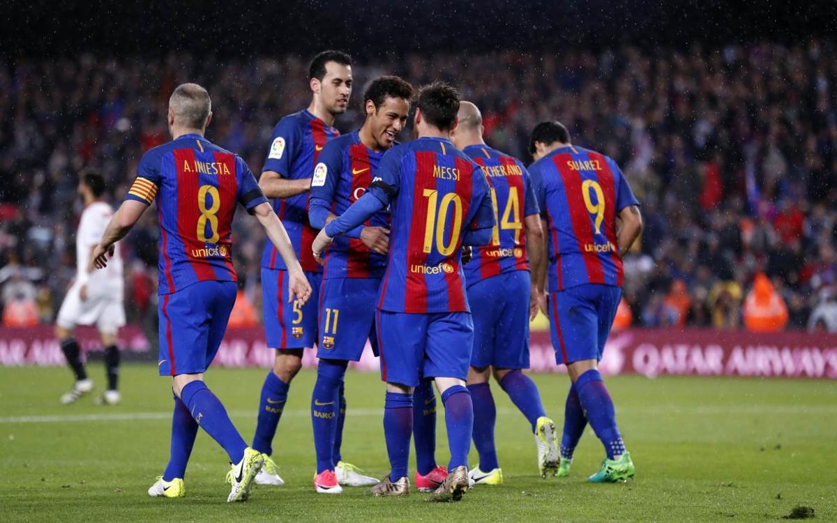 El FC Barcelona logra las 800 victorias de Liga en el Camp Nou