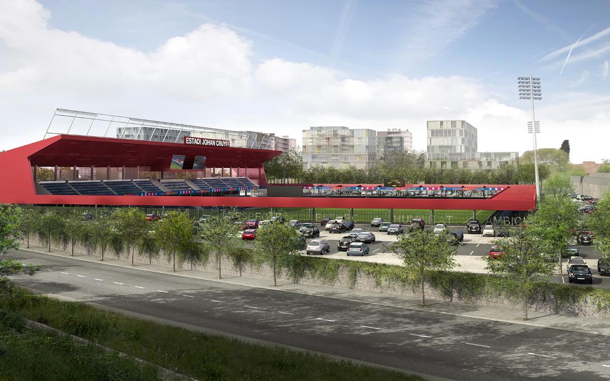 The future Johan Cruyff Stadium, up close