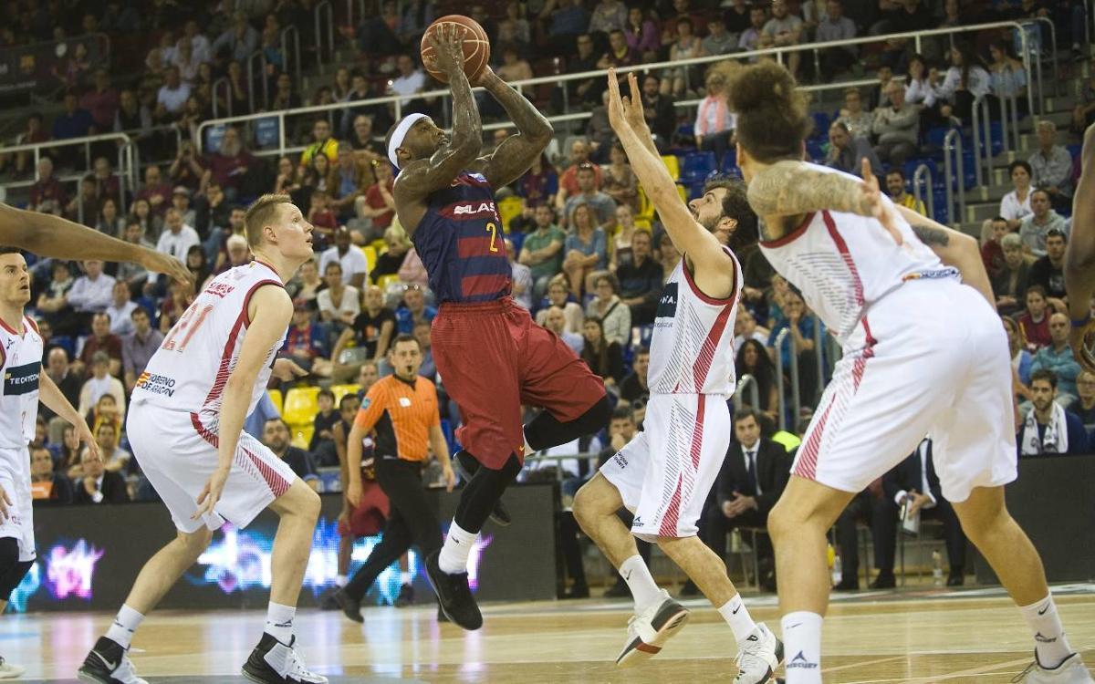 FC Barcelona Lassa – Tecnyconta Saragossa: Un gran triple de Rice decideix el partit (91-88)