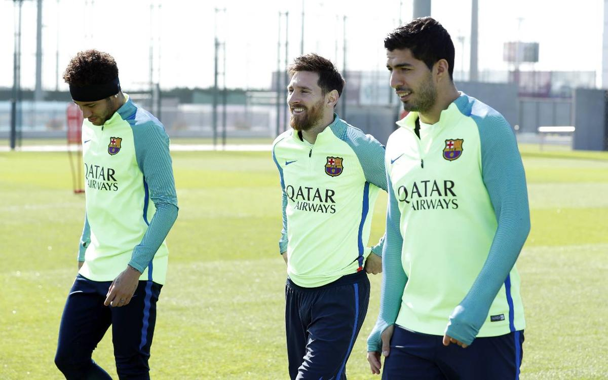 Final training session before Valencia match