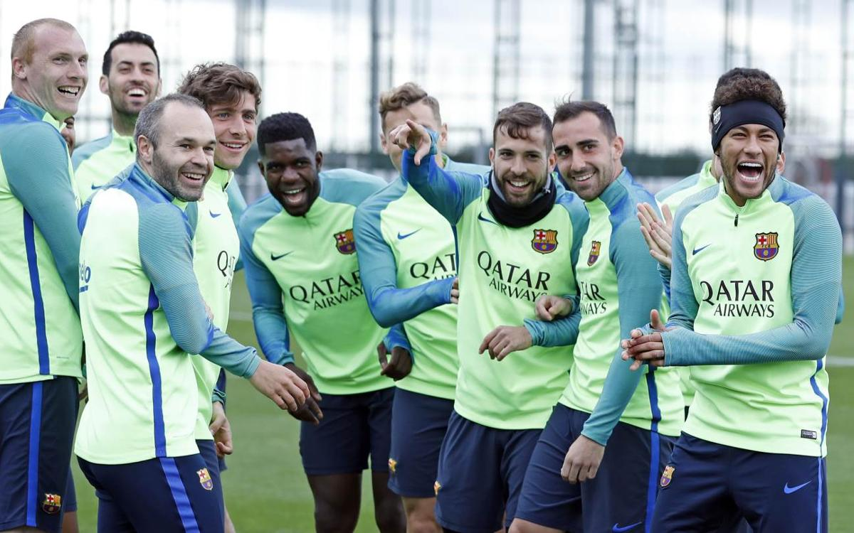 Training schedule for an intense week in La Liga
