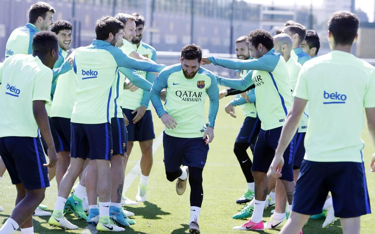 Final training session before El Clásico
