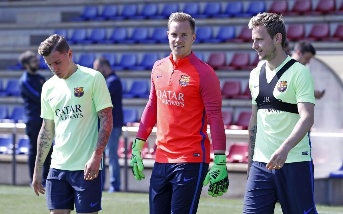 Last training session before Real Sociedad's visit