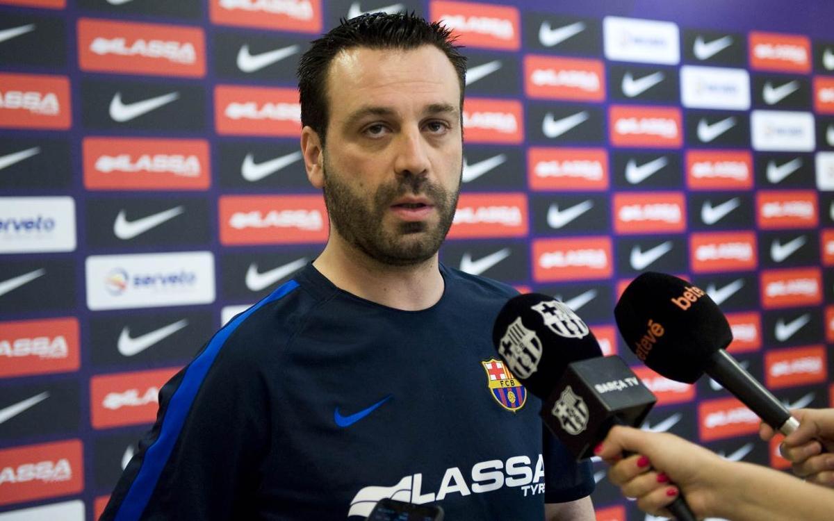 """Ricard Muñoz: """"No podem cedir punts, especialment al Palau"""""""