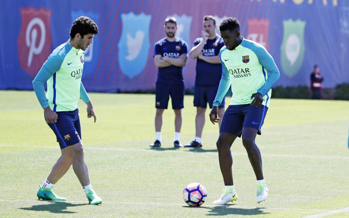 Training schedule for a week with two Liga matches