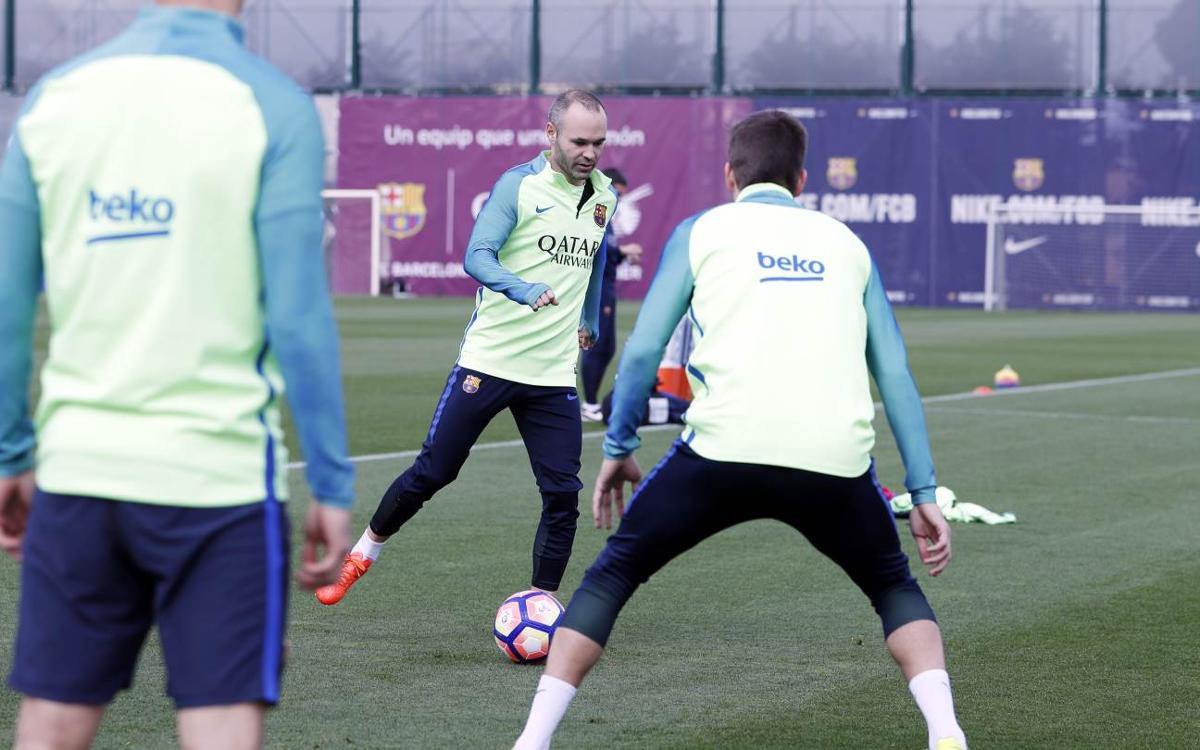 Gentle recovery session at the Ciutat Esportiva