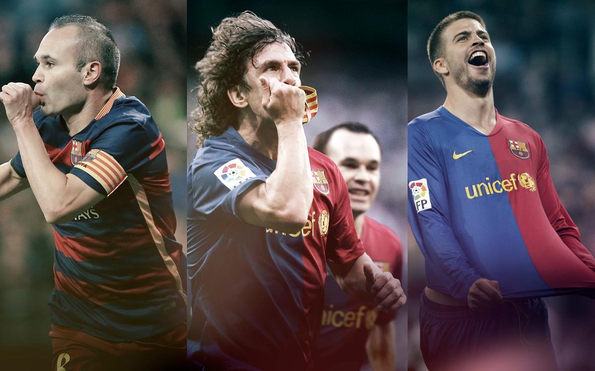 Las grandes celebraciones del FC Barcelona en el Santiago Bernabéu
