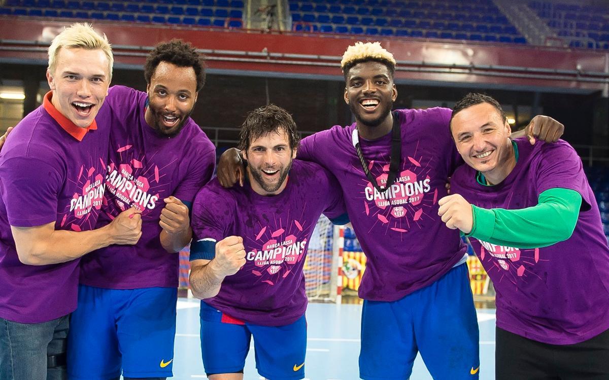 Cinco jugadores del Barça Lassa se estrenan en la Liga Asobal