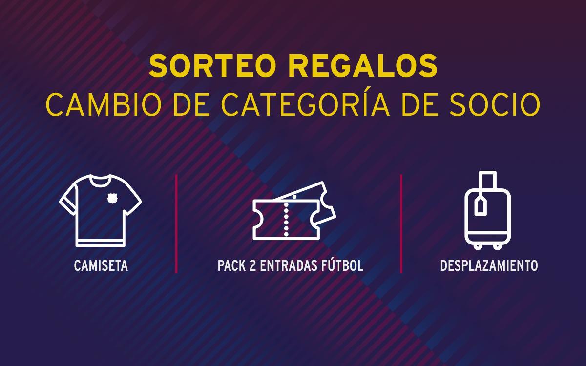 El Club premia el cambio de categoría de los socios con sorteos de diferentes obsequios