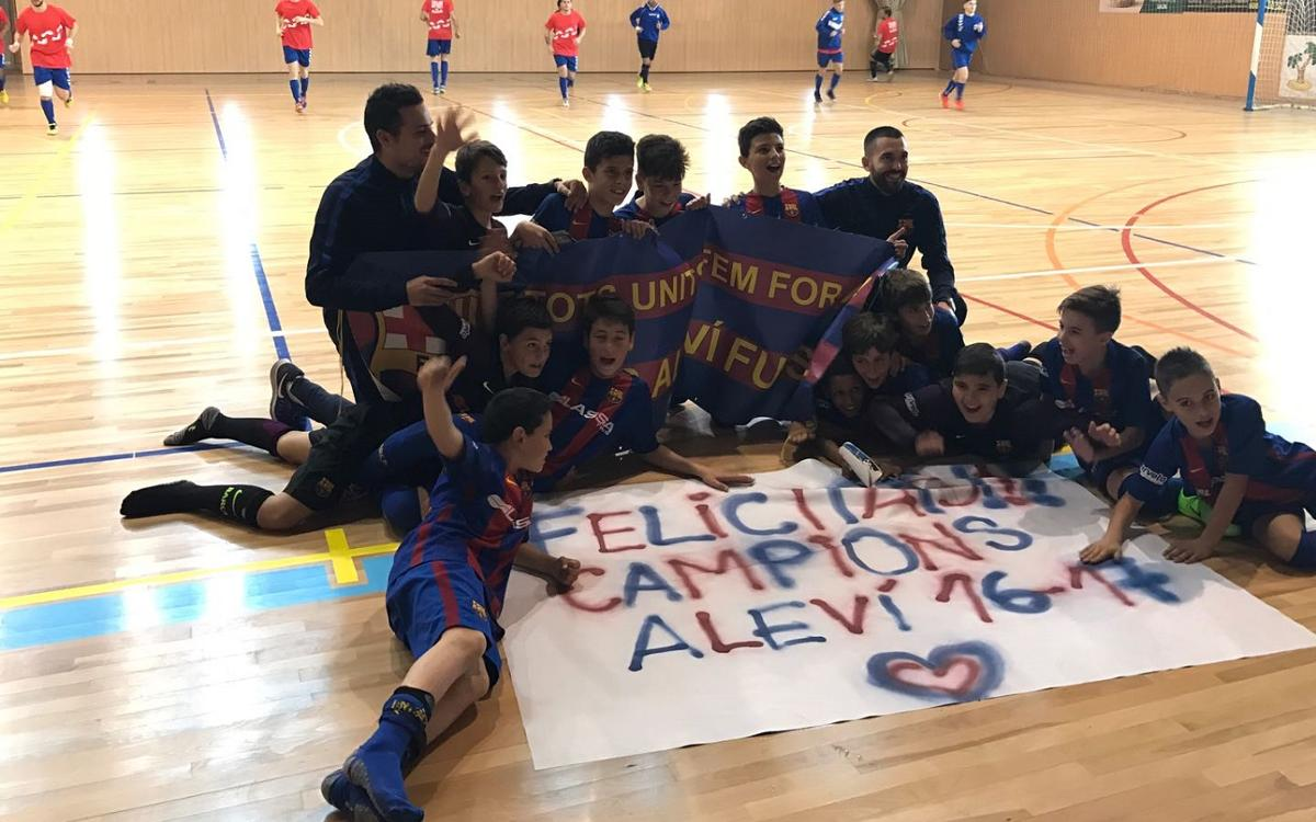 El Alevín se proclama campeón de liga en Salou